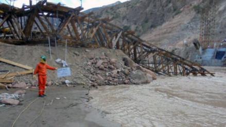 Chachapoyas: cae puente en construcción y mata a cuatro personas