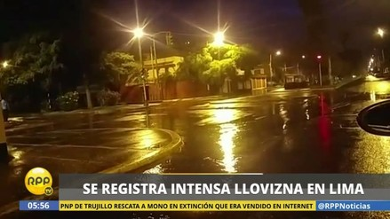 Una intensa lluvia cayó sobre Lima durante la madrugada