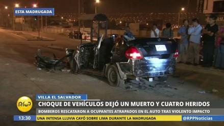 Un muerto y cuatro heridos graves en un violento accidente de tránsito