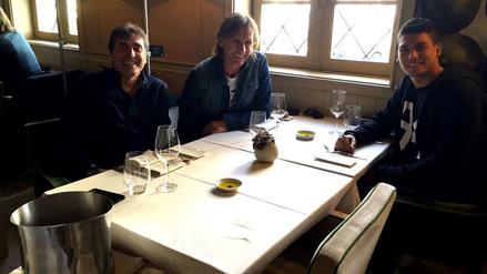 Ricardo Gareca y Néstor Bonillo se reunieron con Iván Bulos en Portugal