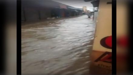 Piura: fuerte lluvia se reportó en la provincia de Morropón
