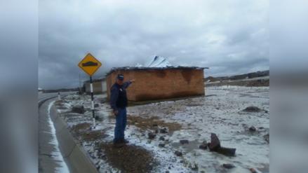 Santiago de Chuco: alerta por nevada y fuertes vientos en el ande