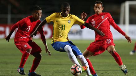 Perú debutó perdiendo 3-0 con Brasil en el Sudamericano Sub 17