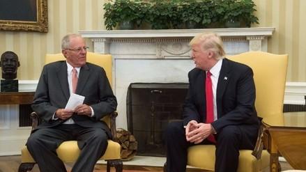 PPK y Donald Trump se reunieron este viernes en la Casa Blanca