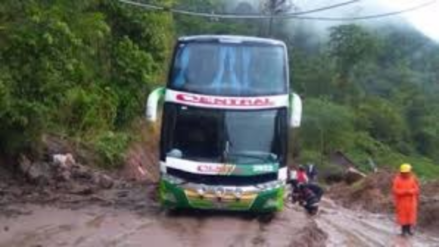 Chanchamayo: huaicos restringen tránsito en la Carretera Marginal