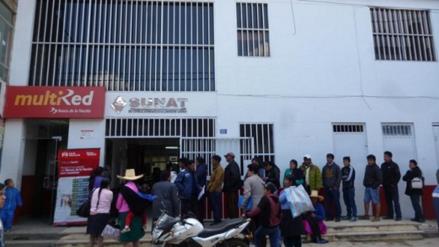 Huamachuco: Asaltantes dejan forado en el interior del Banco de la Nación