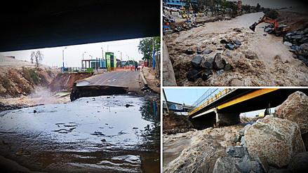 Aumento de caudal del río Rímac produce colapso de vía cerca a Puente Dueñas