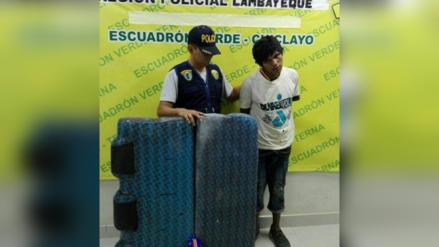 Chiclayo: Grupo Terna captura a joven que desmanteló una mototaxi