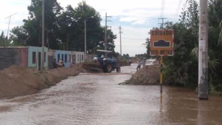 Desborde del río Matagente inundó cultivos y puente colapso en Chincha