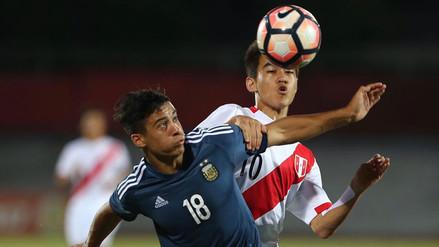 Perú cayó 3-0 con Argentina y está al filo del adiós en el Sudamericano Sub 17