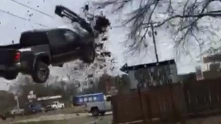 El accidente que parece sacado de una película de acción