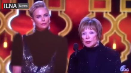 Irán censura el escote de Charlize Theron durante los Premios Oscar