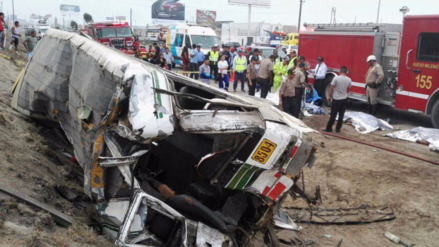 Suspenden a empresa que protagonizó accidente en la Panamericana Sur