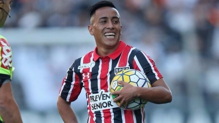 Christian Cueva anotó de penal en la victoria de Sao Paulo ante PSTC