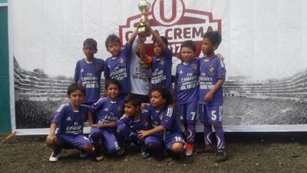 """Pequeños pimenteleños del """"Real Madrid"""" ganan Copa Crema Umbro 2017"""