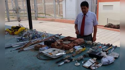Incautan objetos prohibidos en celdas de peligrosos reos de Chiclayo