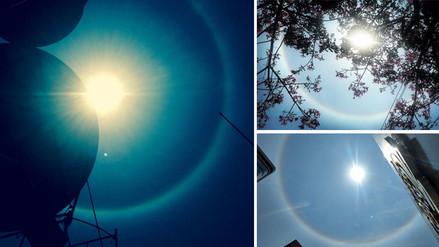 Así fue el halo solar que sorprendió a limeños esta tarde