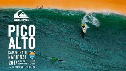 Campeonato nacional Quiksilver Pico Alto 2017 a la expectiva de las mejores olas
