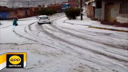 Reportan caída de lluvia y granizada en Juliaca