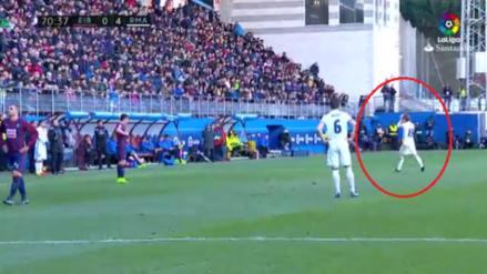Luka Modric fue ovacionado por los hinchas del Eibar al salir del campo