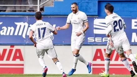 Real Madrid ganó, gustó y goleó de visita ante Eibar por la Liga