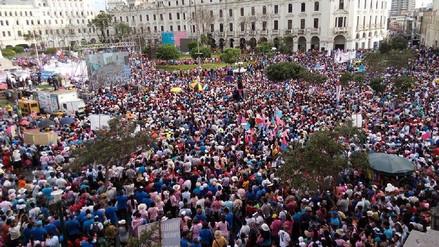 La marcha 'Con mis hijos no te metas' convocó a 25 mil personas en Lima
