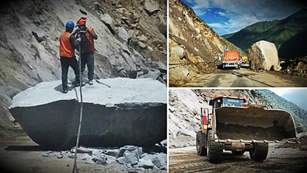 Rehabilitan por horarios la Carretera Central tras lluvias y deslizamientos
