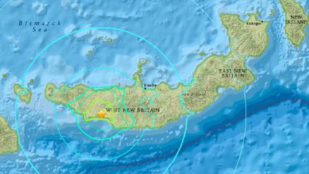 Un terremoto de 6,5 sacude el noreste de Papúa Nueva Guinea