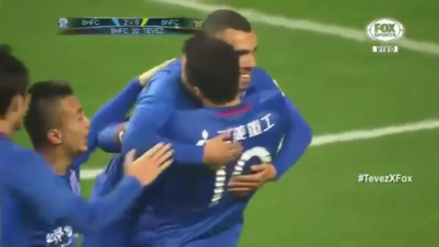 Carlos Tevez debutó con gol con Shangai Shenua en la Superliga China