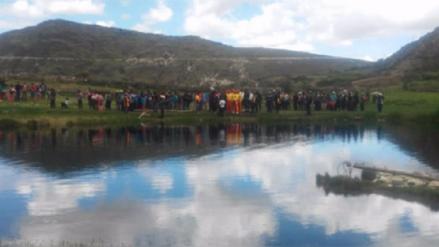Tres personas ahogadas en laguna de Huancavelica