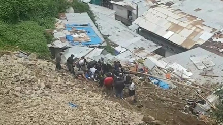 Pataz: dos muertos deja deslizamiento de cerro por lluvias