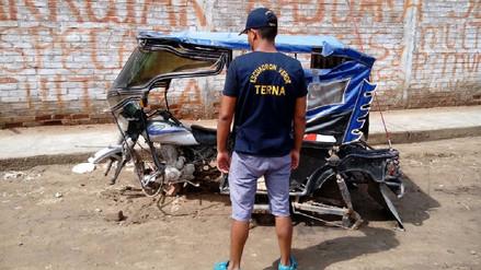 Chiclayo: recuperan moto que fue desmantelada por asaltantes