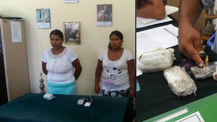 Detienen a dos mujeres que intentaron ingresar droga al penal de Chiclayo
