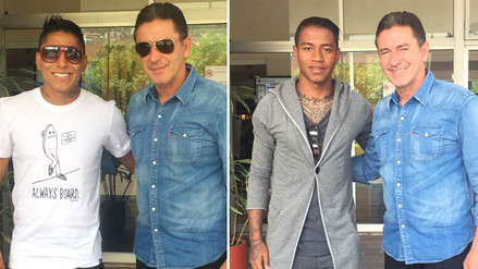 Raúl Ruidíaz y Andy Polo se reunieron con asistente de Ricardo Gareca