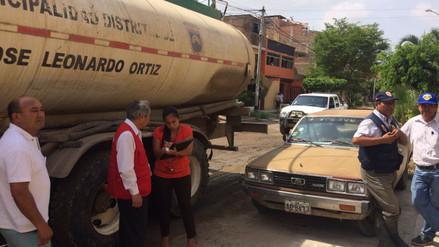 Chiclayo: hallan cisterna municipal brindando servicio en vivienda particular