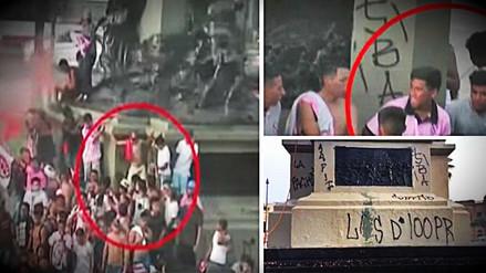 Barristas del Sport Boys vandalizaron monumento a Francisco Bolognesi