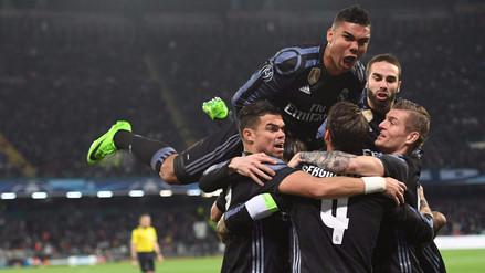 Real Madrid venció al Nápoli con doblete de Ramos y pasó a cuartos de final