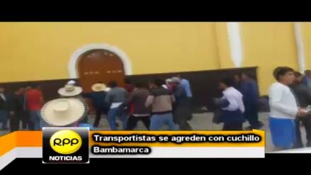 Enfrentamiento de transportistas en Bambamarca dejó dos heridos