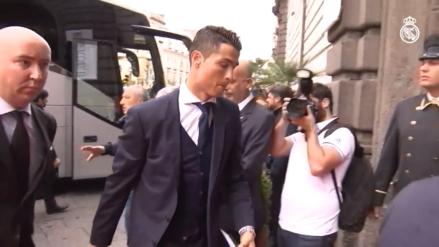 Real Madrid tuvo un caótico recibimiento en Nápoles