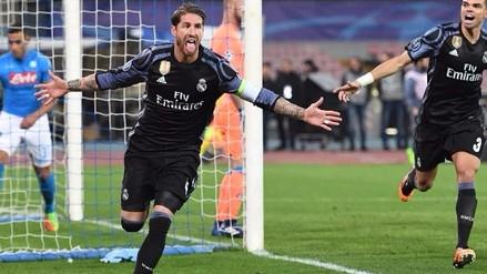 Sergio Ramos anotó dos goles en cinco minutos y puso arriba al Real Madrid