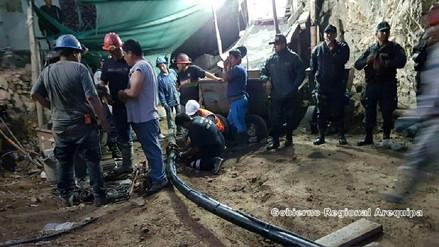 Suspenden trabajos de recuperación de cuerpos de mineros en Acarí