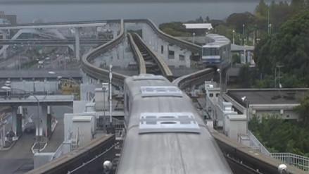 El monorriel de Japón que sorprende por su sincronizado funcionamiento
