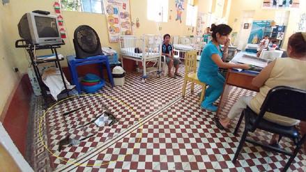 Lluvias generan hundimiento de pisos en el hospital de Chiclayo