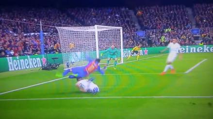Neymar provocó un polémico penal que puso 3-0 arriba a Barcelona