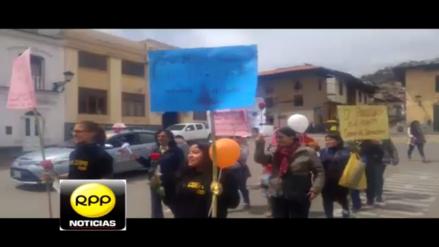 Cajamarquinas marcharon por la igualdad de derechos en el Día de la Mujer