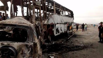 Choque entre camioneta y ómnibus dejó un muerto y 25 heridos en Virú