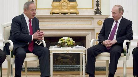 Netanyahu le dice a Putin que no va a permitir que Irán se quede en Siria