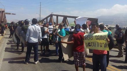 Virú: protestan contra concesionaria de peaje en plena Panamericana