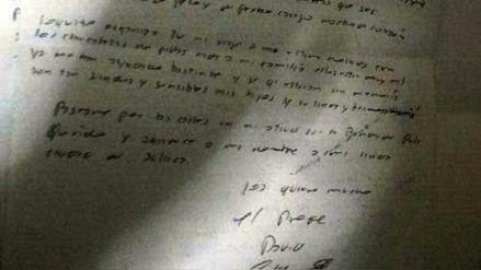Aparecen supuestas cartas que habría dejado exalcalde anunciado suicidio