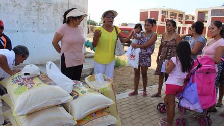 Donan arroz a dos mil familias de extrema pobreza de Lambayeque